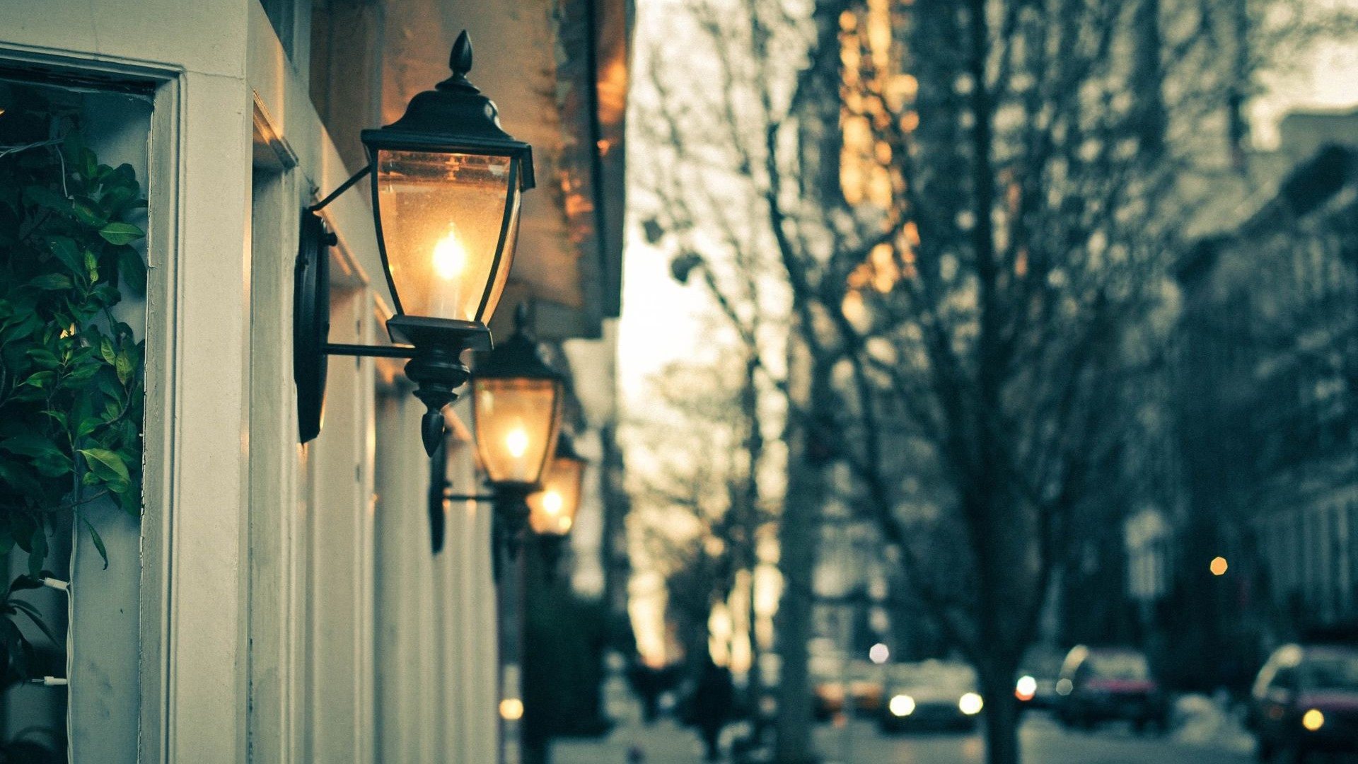 Three Street Lights